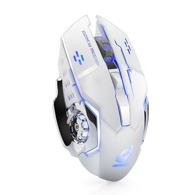90f67503d23 Aliexpress.com : Buy 2.4GHz Wireless Rechargeable X8 Silent 7 Colors LED  Backlit 1800DPI USB Optical Ergonomic Gaming Mouse Gamer PC Laptop Computer  from ...