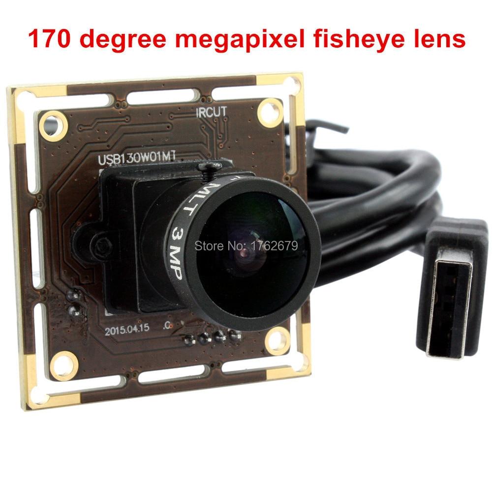 1 3MP 960P HD usb camera wide angle 170 degree fisheye lens UVC security endoscope usb
