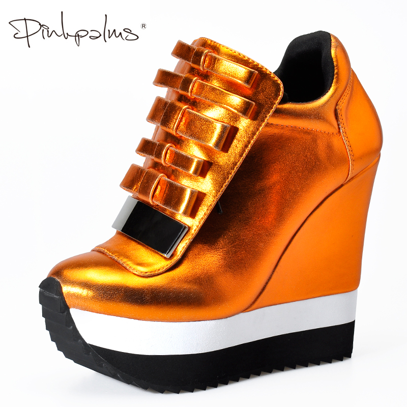 Pink Palms Shoes Women Height Increase Pumps Women Autumn Winter Shoes High Heels Trending Color Unique Design Sneakers