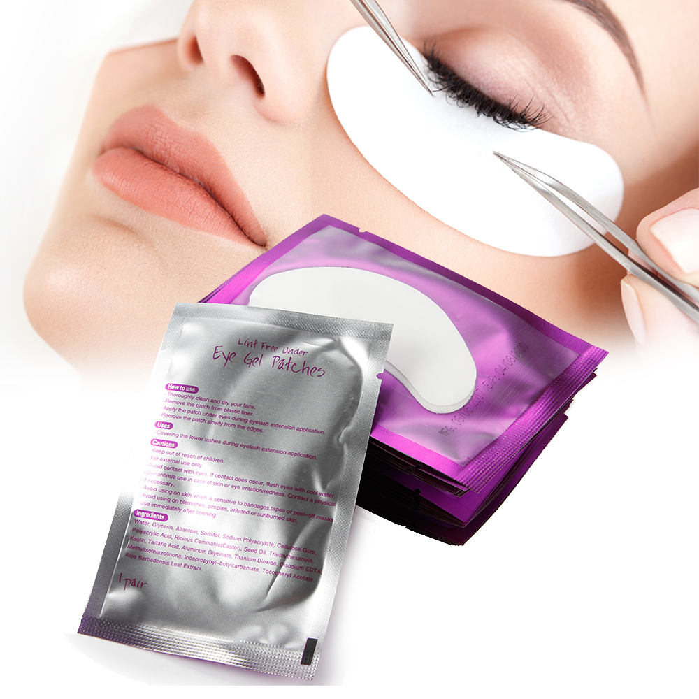 100pairs/lot Eyelash Extension Pads Under Eye Disposable Lint-free Eye Tips Sticker Wraps Make Up EyeLash Pillow Paper Patches 50 pairs new gel eye pads under eye patches for eyelash extension pads lint free patch for eye lashes make up eye tips sticker