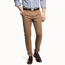 Pants Khaki Chinos-Trousers Slim-Fit Custom Homme Tailored Mens Streetwear Hombre