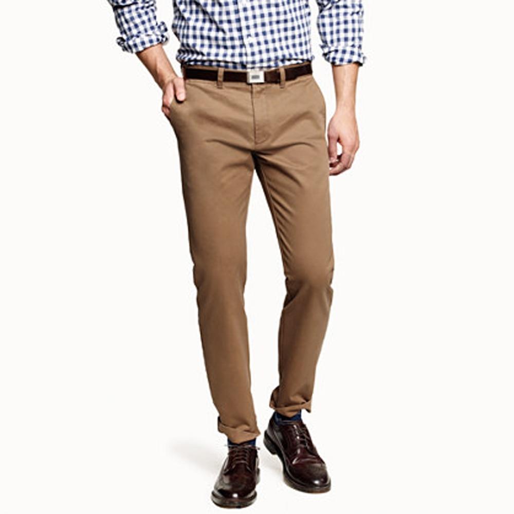 ผู้ชายกางเกงบุรุษ Chinos Tailored กางเกง Chino สีกากี Slim Fit Streetwear ชาย Chinos กางเกง Chino Homme Pantalon Hombre-ใน สูท จาก เสื้อผ้าผู้ชาย บน AliExpress - 11.11_สิบเอ็ด สิบเอ็ดวันคนโสด 1