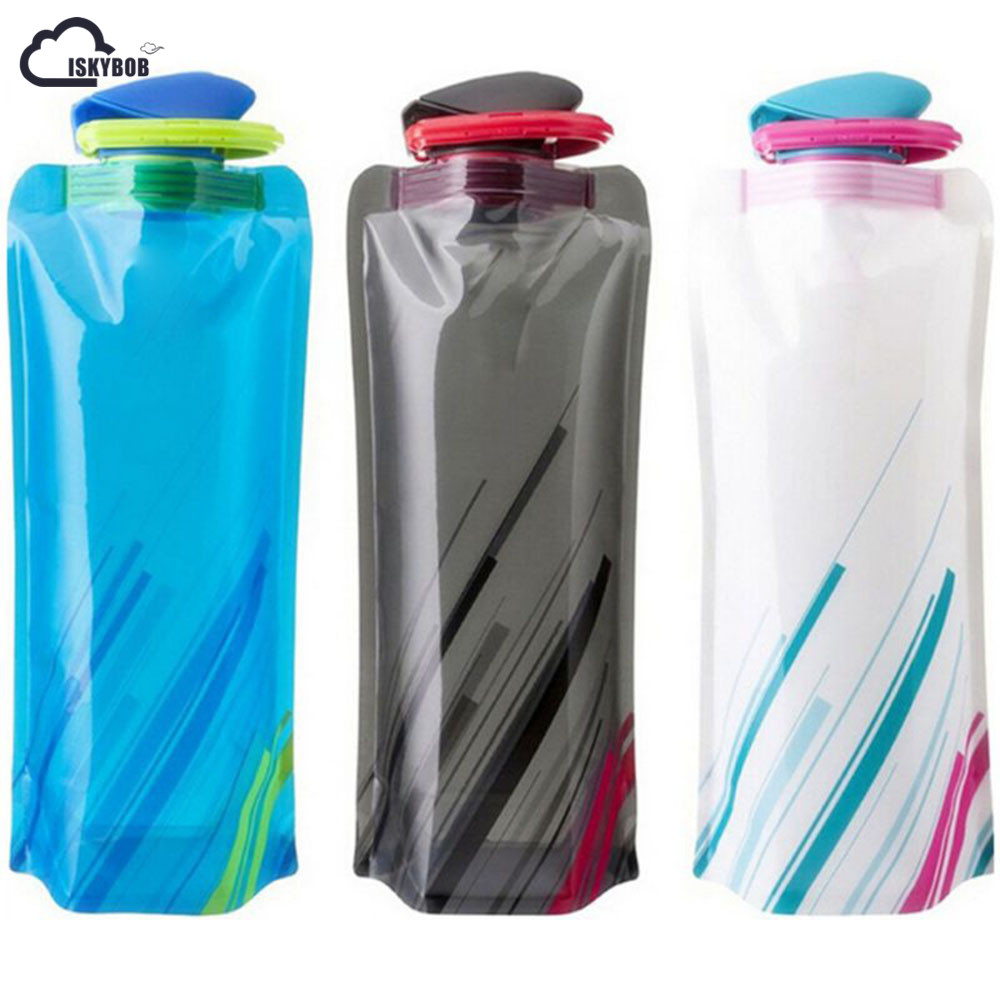 ISKYBOB 700mL  Travel Portable Collapsible Folding Water Bottle Kettle Cup For Travel Accessories