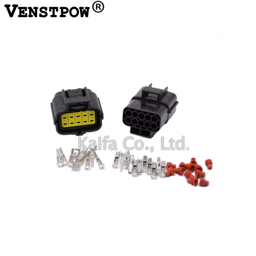1 set 10 Pin Way Waterproof Wire Connector Plug Car Auto