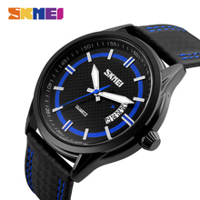 купить SKMEI Luxury Brand Quartz Watch Men Leather Fashion Casual Water Resistant Complete Calendar Wristwatches Relogio Masculino xfcs по цене 914.8 рублей