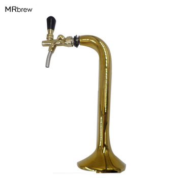 Chrome Plated Brass Single beer tap faucet with golden beer tower HIgh Quality