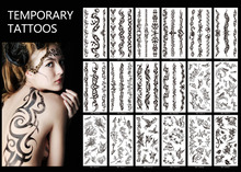 1piece Spiders Tigers Ect Temporary Tattoos Stickers Rose Flowers Shoulder Tattoo Waterproof Animal Men And Women Tattoos