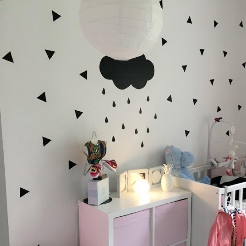 Jauki lielo mākoņu zīmējuma sienas plēves plēve Noņemama un - Mājas dekors - Foto 2