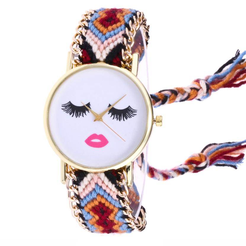 Women Silme Face Watch Victorian Style B