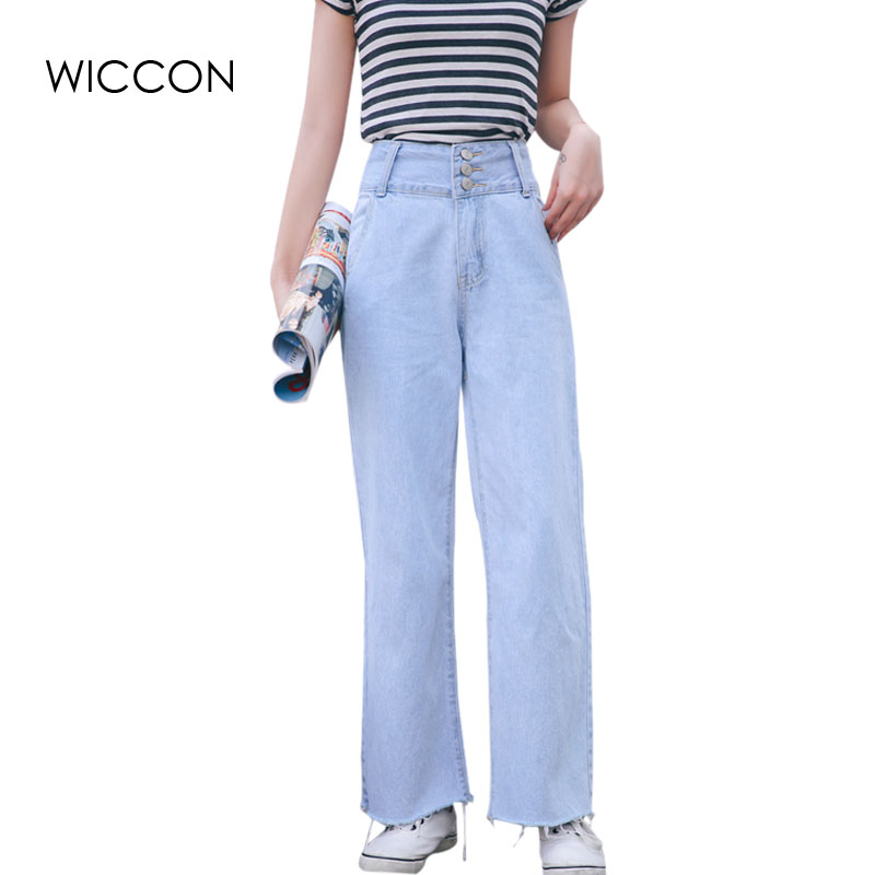 Boyfriend Jeans For Women Autumn High waist Female Denim Pants Loose Jeans Trousers Casual Ladies Mom jeans WICCON women jeans autumn new fashion high waisted boyfriend street style roll up bottom casual denim long pants sp2096