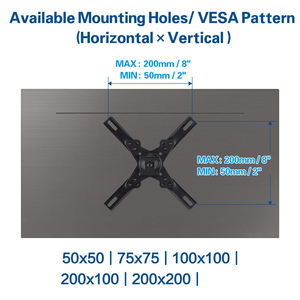 Image 2 - Universele Verstelbare 15 KG Cantilever Mount Stand Roterende TV Muurbeugel Houder voor 15 40 Inch LED LCD Flat panel Plasma TV