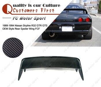 Автомобильные аксессуары полностью из углеродного волокна, OEM Стиль задний спойлер, пригодный для 1989-1994 R32 GTR GTS багажник спойлер крыла