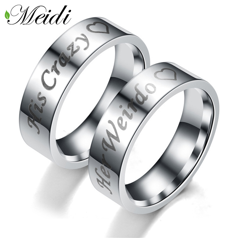 MEIDI Silver Color Lovers Tungsten Rings 8mm Band Center Groove Black Line Brushed Couples Engagement Rings Antique Jewelry