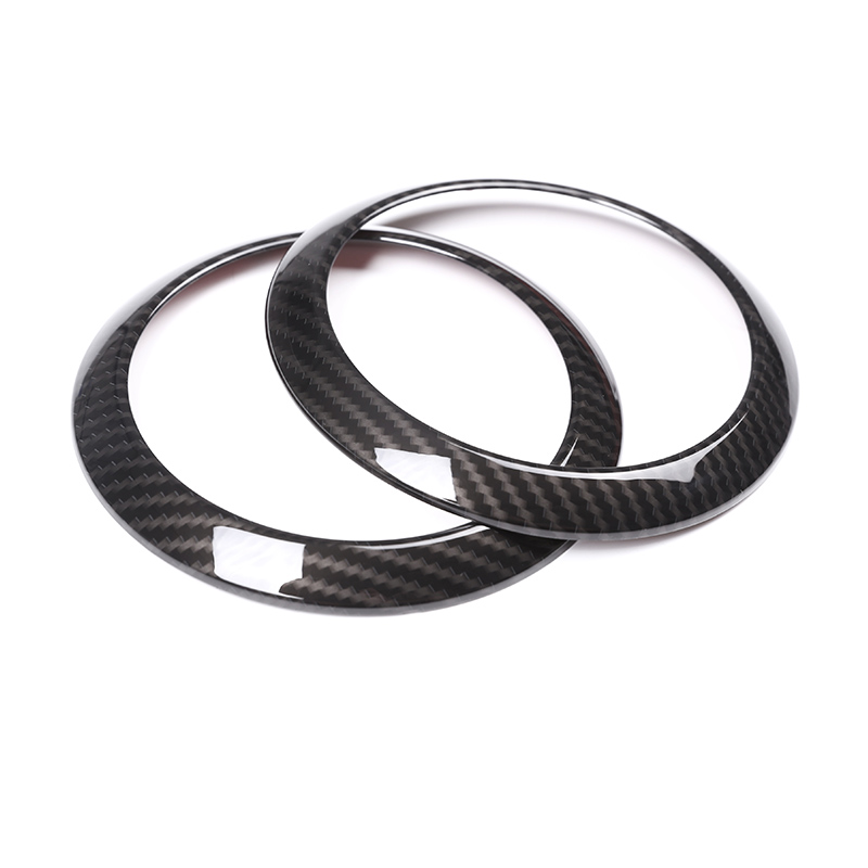 2pcs Carbon For Mercedes Benz E Class W213 2016 2017 Car-Styling ABS Chrome Side Air Conditioning Vent Ring Cover Trim Parts car center console panel decoration cover trim carbon fiber car styling 2pcs for mercedes benz new e class w213 200 300 2016 17