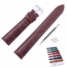 12 14 16 18 20 22 24 mm Genuine Leather Watch Band Strap Watchbands Womens Mens Watches Belt Accessories For DW And Tool все цены