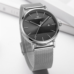Image 3 - NAVIFORCE 女性の腕時計トップブランドの高級ステンレス鋼腕時計ローズ時計スタイリッシュな 2019 を見て