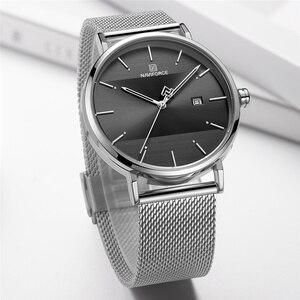 Image 3 - NAVIFORCE relojes para mujer, correa de acero inoxidable, de pulsera, de cuarzo, elegante, femenino