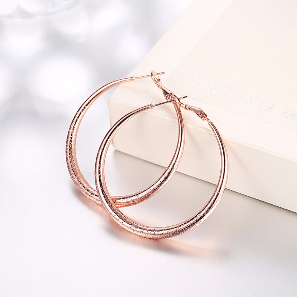 Big Round Earrings Basketball Wives Trendy Gold Color Fashion Jewelry  Wholesale 41mm Diameter Large Hoop Earrings
