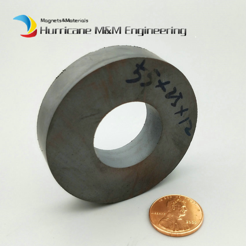 4pcs Ferrite Magnet Ring OD 55x25x12 mm for Subwoofer C8 Ceramic Magnets for DIY Loud speaker Sound Box board home use