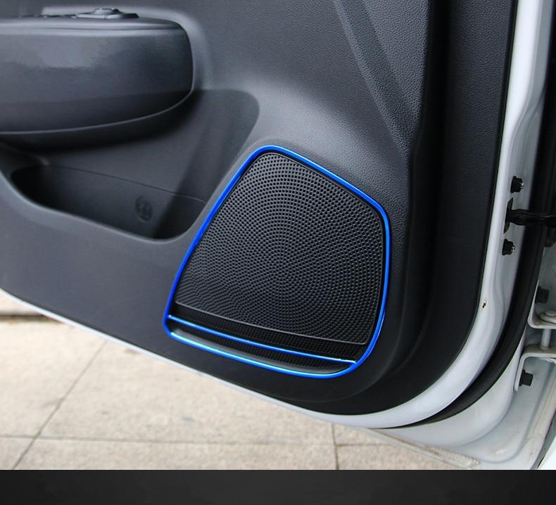 Keao For Kia Rio 4 X line font b Interior b font Mouldings door loudspeaker cover