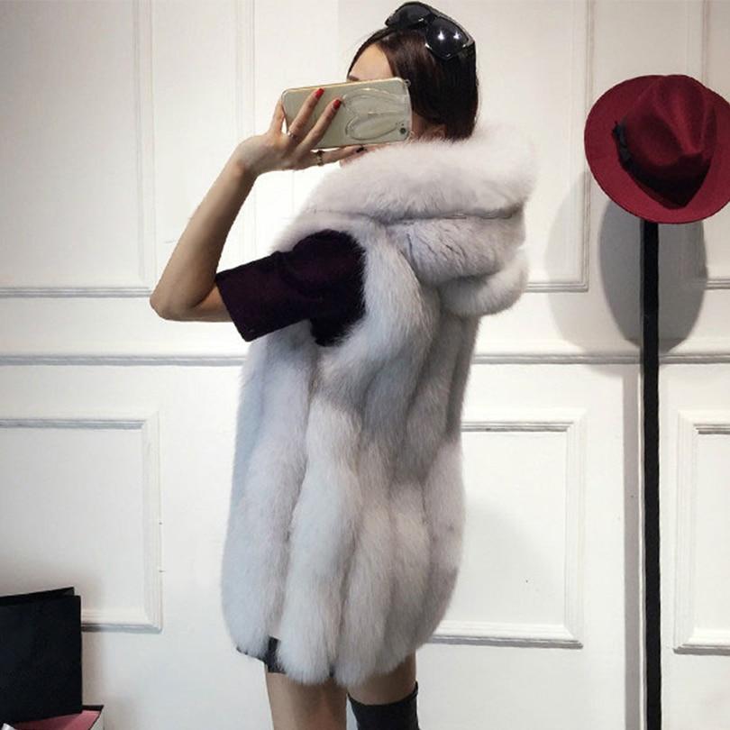 Rompi Mantel 2018 Baru Musim Dingin Bulu Rubah Rompi Bulu Imitasi - Pakaian Wanita - Foto 2