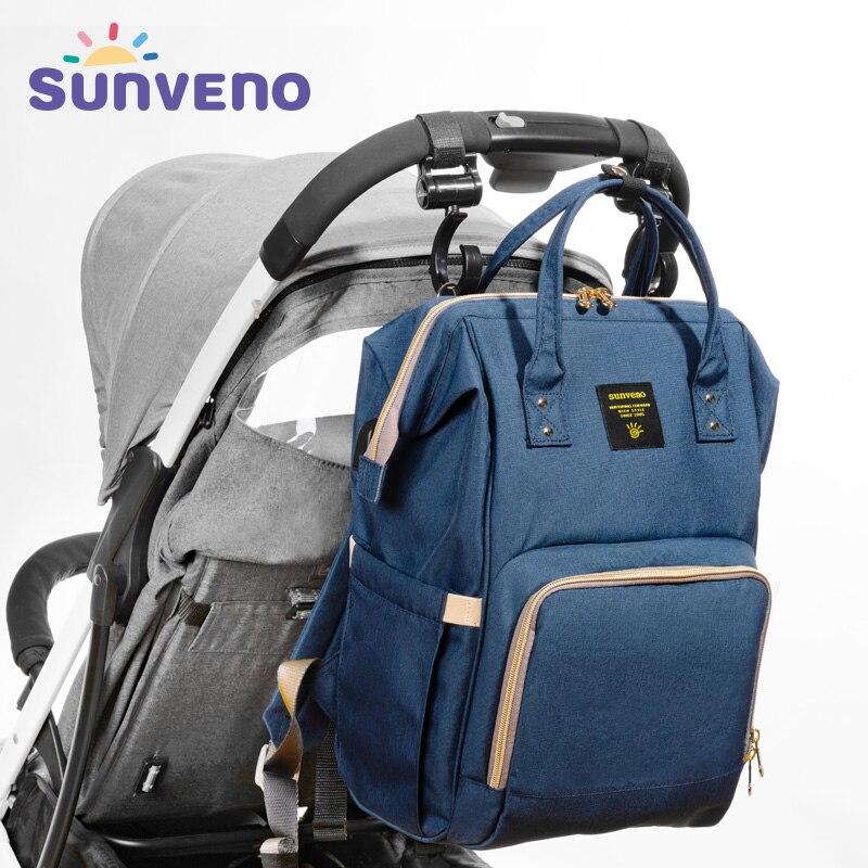 619bbcbcbf73f Sunveno Mutterschaft Tasche Für Baby Reise Rucksack Mutterschaft Design  Pflege Windel Tasche Marke Große Kapazität Baby Tasche Baby Pflege in  Sunveno ...