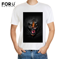 FORUDESIGNS Tees 2017 New Arrival Fashion Men Cool Animal 3D Ghost Printing t shirts Modern Short Sleeve T shirt Man Top Tees