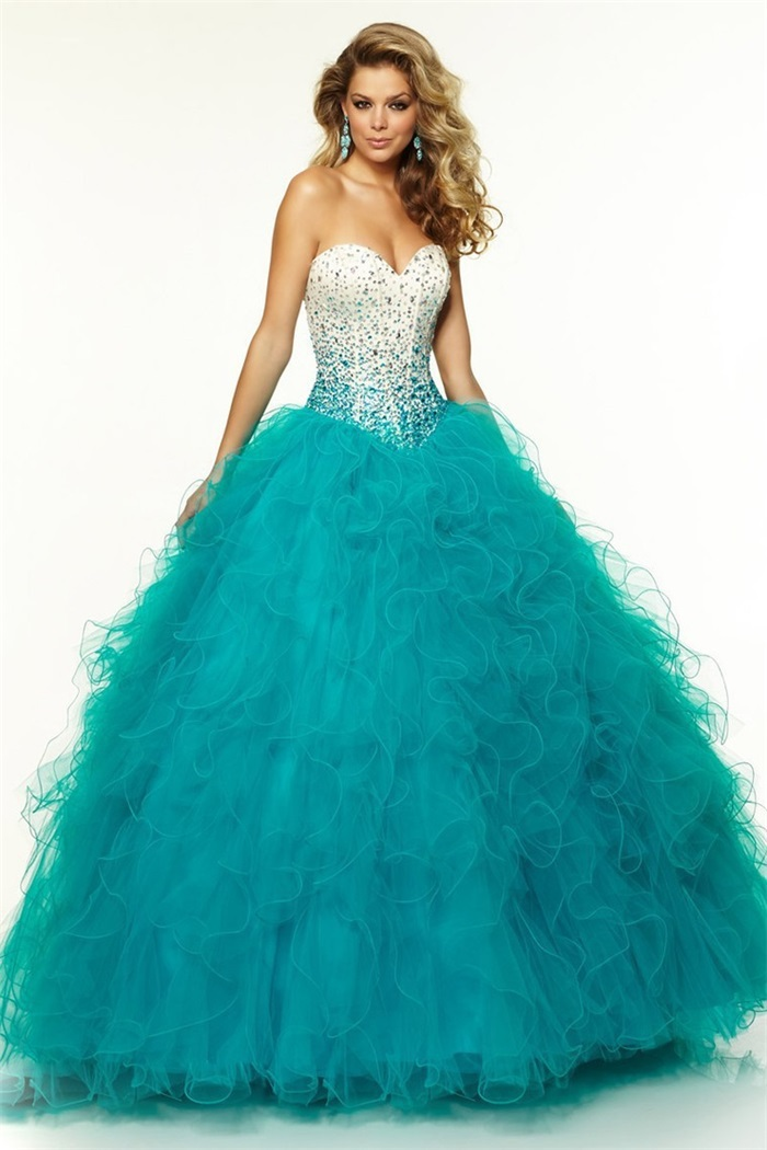 New Arrival Turquoise Quinceanera Dresses for 15 Years Luxury Bling ...