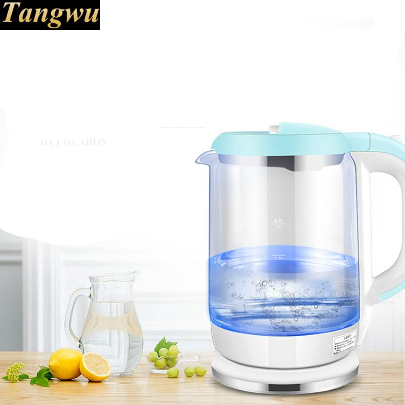 все цены на household glass electric kettle automatically cut 304 stainless steel Overheat Protection онлайн