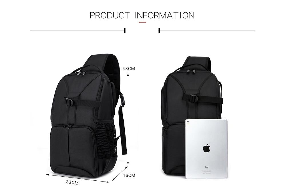 ombros acolchoado mochila saco caso câmera à