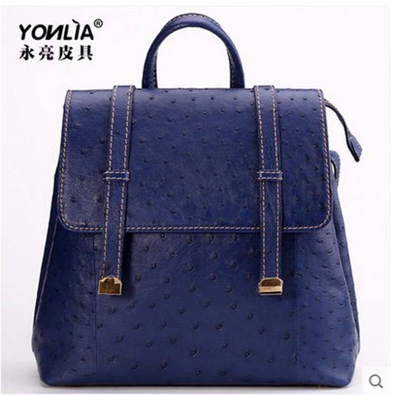 Yongliang Ostrich Leather Women Cluth Bags New Double Shoulder Bag European And American Big Package Fashion Star With The Money