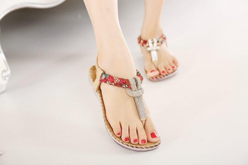 HTB1TW7LXm7PL1JjSZFHq6AciXXa2 UMMEWALO Summer Sandals Women T-strap Flip Flops Thong Sandals Designer Elastic Band Ladies Gladiator Sandal Shoes Zapatos Mujer