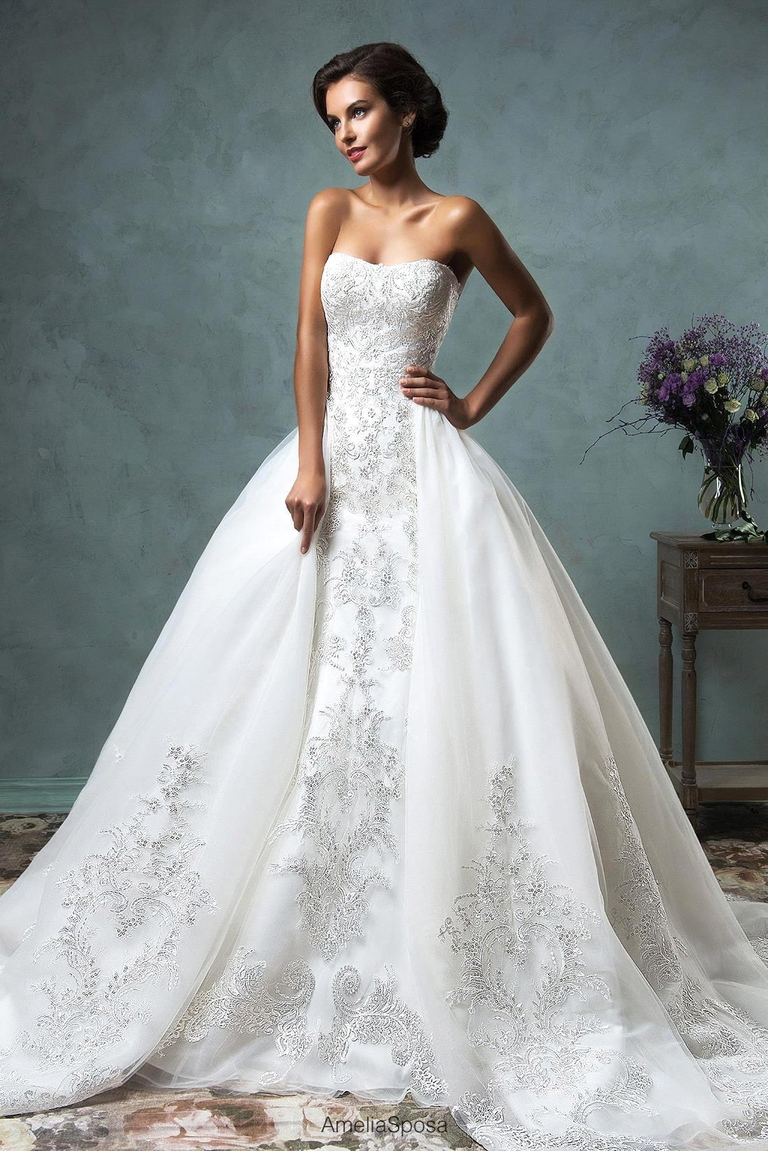 Aliexpress.com : Buy Fancy 2016 Wedding Dress With Sleeves Off the ...