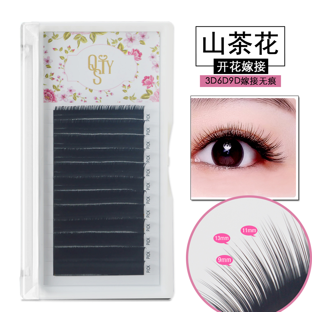 QSTY 3D-9D, 12 rows/tray 0.05/0.07 Volume Eyelash Extensions Mixed Length in One Lash Strip Camellia Eyelash Pandora Eyelashes