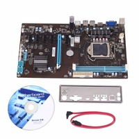 Amzdeal High Speed H81 6GPU Mining Motherboard Extender Riser Card PCI E 1X 16 Slot Integrated