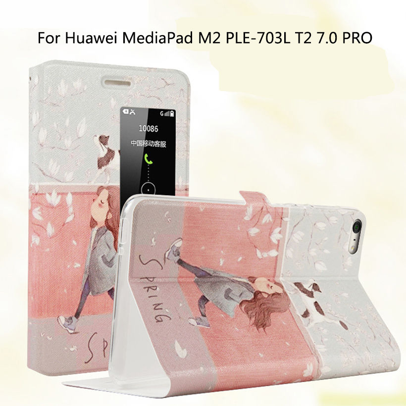 Fashion Silicone PU Leather Cover Case For Huawei Mediapad M2 PLE-703L M2 Yougth T2 Pro 7.0 inch Case Stand Tablet Skin Funda new case for huawei media pad m2 lite ple 703l 7 cover pu leather flip folding case shell tablet pc cases stylus free shipping