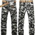 2014 Moda Casual Hombres Pantalones de Camuflaje Trajes Pantalones Multi del Bolsillo de Los Pantalones Militares Pantalones de Camuflaje de Campo 28-38
