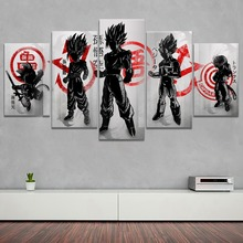 Super Isaiah Poster 5 Piece Style Modern Home Decorative Wall Artwork Canvas HD Print Dragon Ball Animation Modular Picture