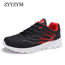 купить ZYYZYM Men Casual Shoes Fashion Sneakers Spring Lace-Up Style Breathable Light Sport Shoes Men Plus Size EUR 38-48 2019 New дешево
