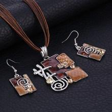ZOSHI moda afrykański zestaw biżuterii ślubnej zestawy biżuterii dla panien młodych Party liny zestawy biżuterii ślubnej lato biżuteria boho tanie tanio Ze stopu cynku Kobiety Klasyczny Akrylowe Ślub F823A-F826A Geometryczne Naszyjnik kolczyki necklace+earrings boho jewelry sets