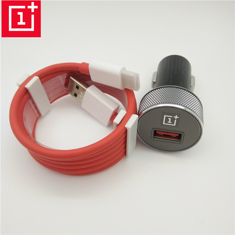 Dash Charging Car Charger with Original 1m 1+ Dash type-c Cable fast Quick charge For Oneplus 6 5T 5 3t 3 One plus five T three