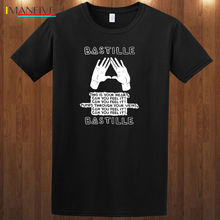 Bastille Tee Indie Pop Rock Band Dan Smith S-3XL T-Shirt 2019 Short Sleeve Cotton T Shirts Man Clothing Basic Tops