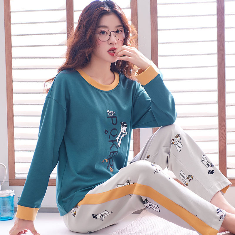 Women Clothes for Autumn winter Pajamas Sets O-Neck Sleepwear Lovely Rabbit Pijamas Mujer Long Sleeve Cotton Sexy Pyjamas Female 89
