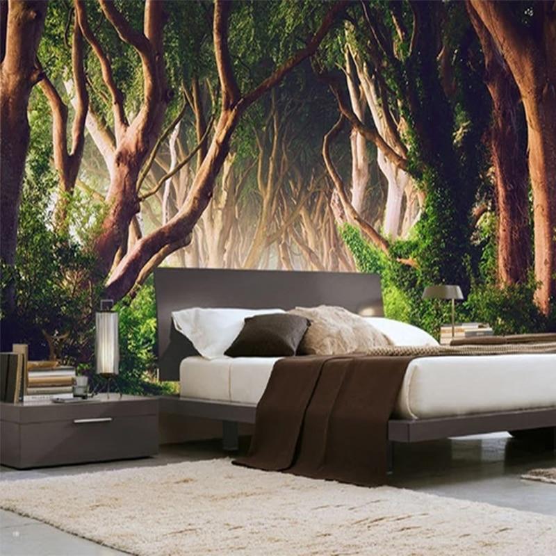 Photo Wallpaper 3D Forest Nature Landscape Murals Living Room TV Sofa Bedroom Background Wall Classic Home Decor Mural Wallpaper
