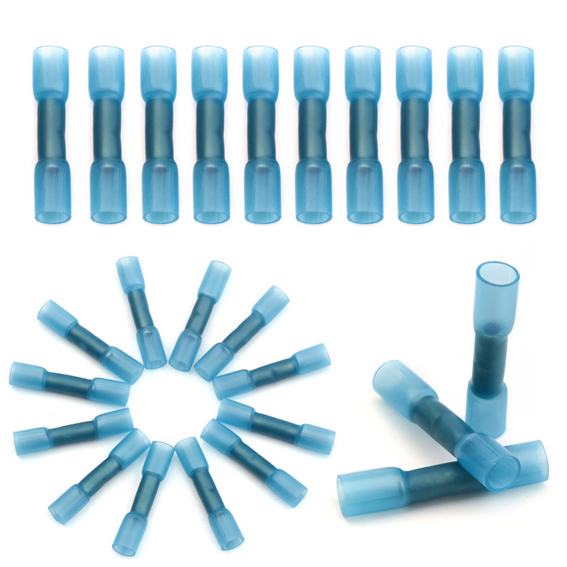 Yt 20pcs Blue Waterproof Butt Connector Electrical Wire