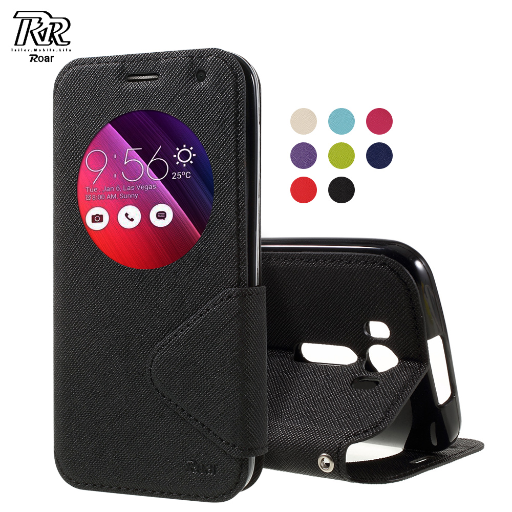 ROAR KOREA for zenfone2 laser ze500kg ze500kl Case View Window Leather Flip Cover for Asus Zenfone 2 Laser ZE500 KG ZE 500KL