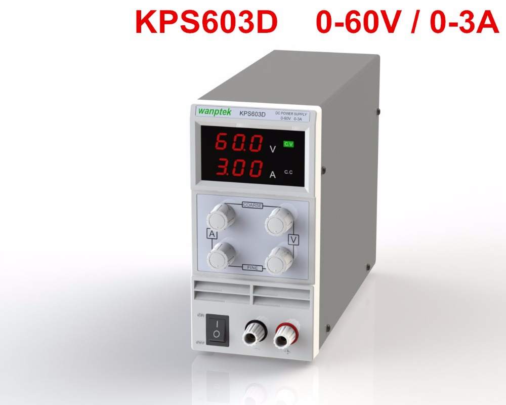 KPS603D High Precision DC power supply 0-60V 3A adjustable regulated power supply 30v 3a dc regulated power high precision adjustable supply switch power supply maintenance protection function kps303df