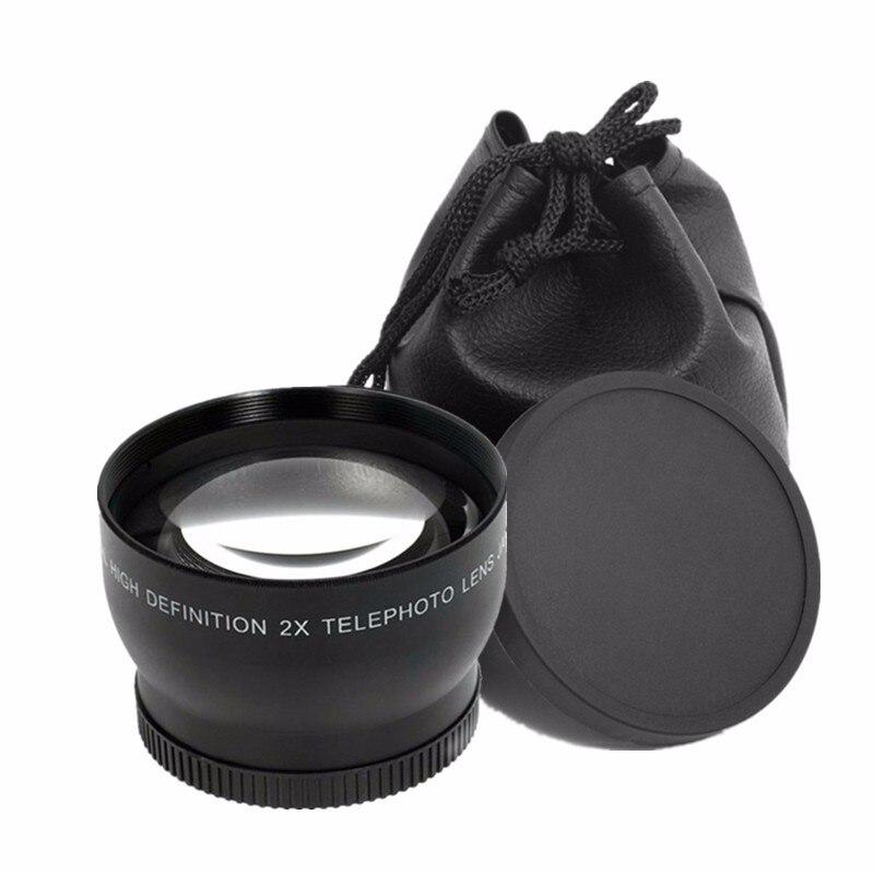 58 MM 2X Téléobjectif pour Canon 5D 60D 70D 350D 400D 450D 500D 100D 650D 600D 1100D