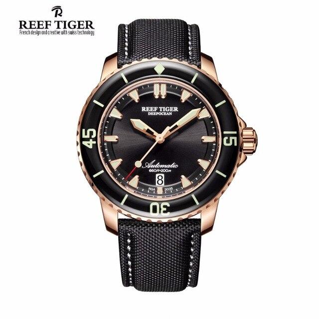 d57889e3fc9 Recife Tigre 2017 Mergulho Relógio dos homens de luxo da marca reloj hombre  Automático Super Brilhante