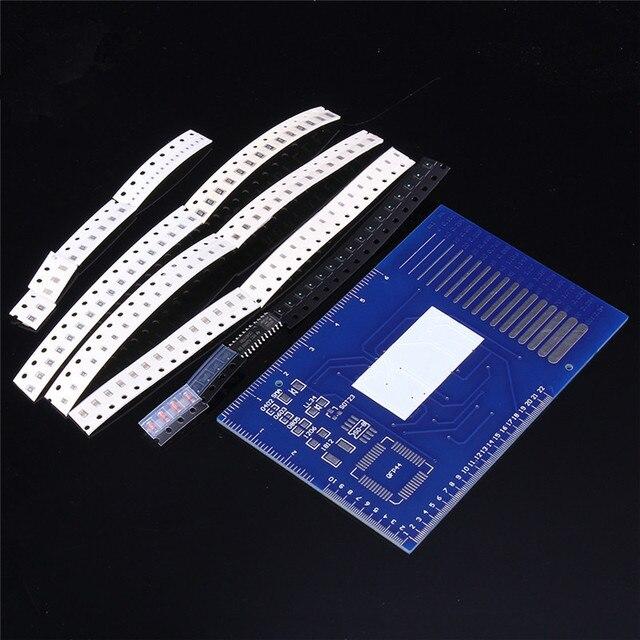 CD4017 вращающийся LED SMD NE555 тренировочная доска для пайки DIY Kit Fanny Skill тренировочный электронный костюм